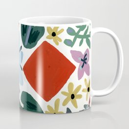 Red Flora Coffee Mug