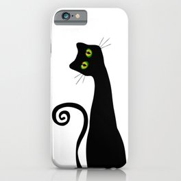 Black Cat Witches Lucky Cat iPhone Case