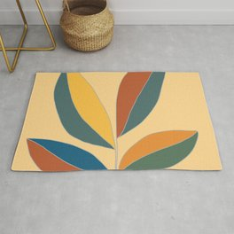 Abstract Rubber fig plant Rug
