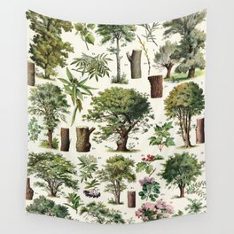 Adolphe Millot - Arbres A - French vintage botanical poster Wall Tapestry