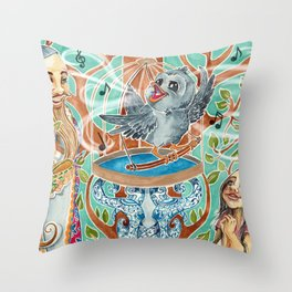 The Nightingale Series - 4 of 8 Throw Pillow