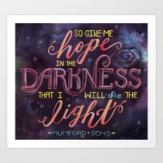 Hope in the Darkness Art Print