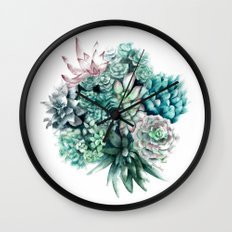 Cactus circle Wall Clock