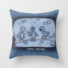 Birds Singing Throw Pillow