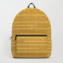 Geometric Art, Colorful Stripes Mudcloth, Yellow Backpack