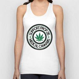 100% Sm0kin' Cannabis - Support Prop 215 Unisex Tank Top