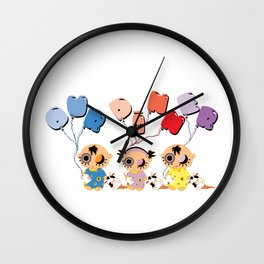 horror babies Wall Clock