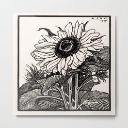 Julie de Graag - Sunflower Metal Print