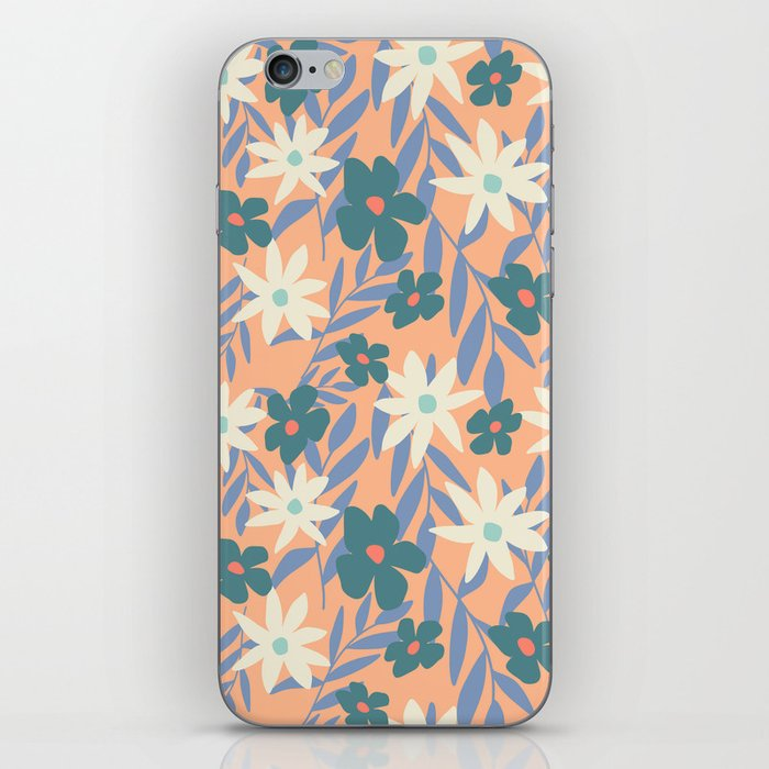 Just Peachy Floral iPhone Skin
