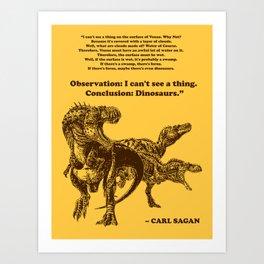 Conclusion: Dinosaurs (Color) Art Print