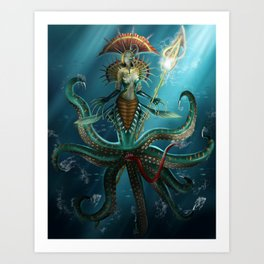 Deep Fear Art Print