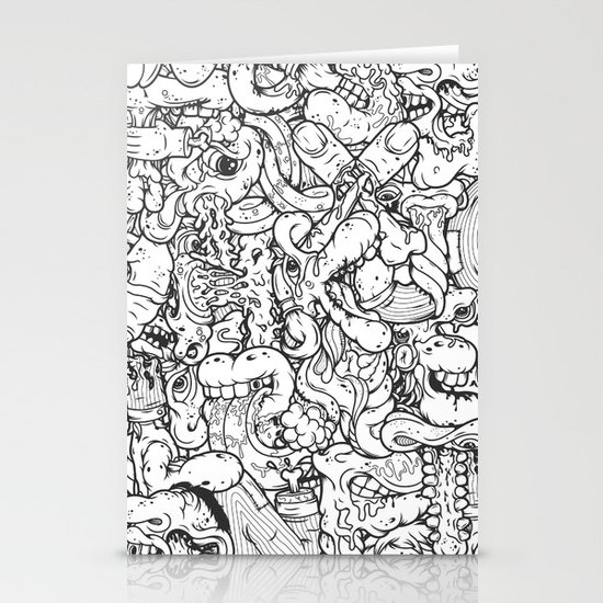 Alphabetcha Collage b&w Stationery Cards