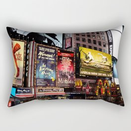 New York City - Times Square - Musicals Rectangular Pillow