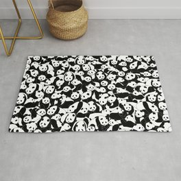 Less Hate More Panda Rug