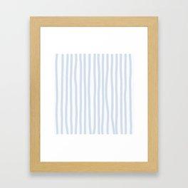 Light Blue Stripes Framed Art Print