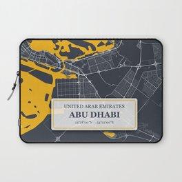 Abu Dhabi City Map with GPS Coordinates Laptop Sleeve