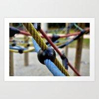 bondage Art Prints featuring Bondage game by Opus Incertum