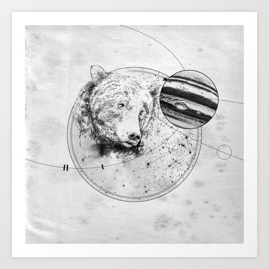 Panic at the planetarium Art Print
