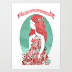 The dress looks nice on you Art Print