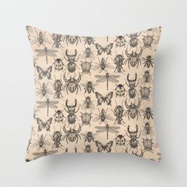 Bugs and insects Throw Pillow