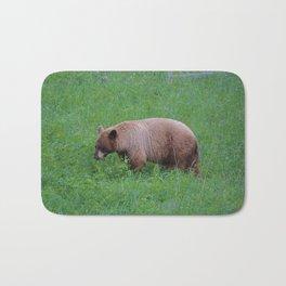 Cinnamon bear in Jasper National Park | Canada Bath Mat