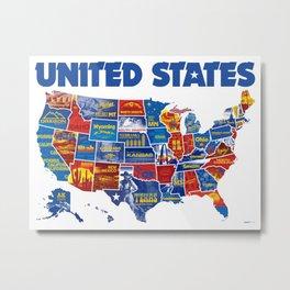 Awe Inspiring America Vinatage Poster Metal Print