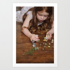 a miniature teaparty Art Print