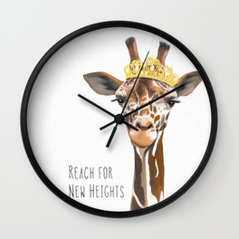 Reach for new heights - Girl Wall Clock
