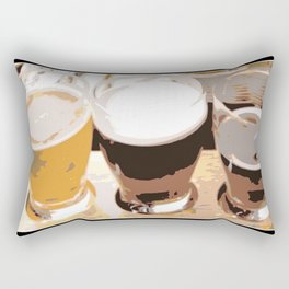 Beer | Man Cave | Beer Flight Sampler | Nadia Bonello Rectangular Pillow