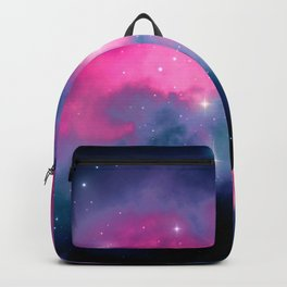 Beautiful Pink and Blue Abstract Cosmic Starry Vista Backpack