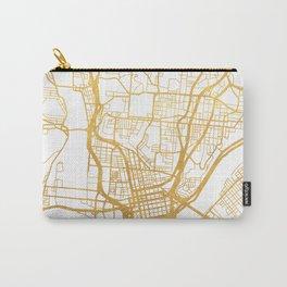 CINCINNATI OHIO CITY STREET MAP ART Carry-All Pouch