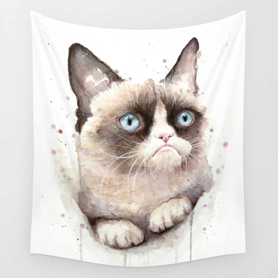 Grumpy Meme And People Wall Tapestries Society - 17 cats that are angry grumpy and fed up with everything