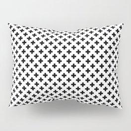 Small Black Crosses on White Pillow Sham
