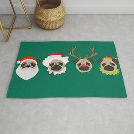Christmas Pugs Rug