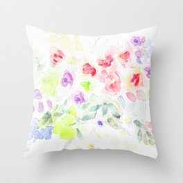 Flower Watercolor Splash 1  Countryfarmhouse Throw Pillow