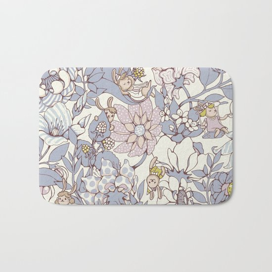 Garden party - jasmine tea version Bath Mat