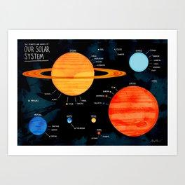 Our Solar System Art Print
