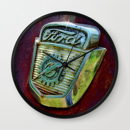Ford Truck Emblem Wall Clock