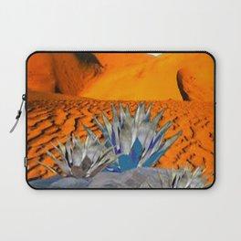 BLUE AGAVE DESERT LANDSCAPE CACTUS ART Laptop Sleeve