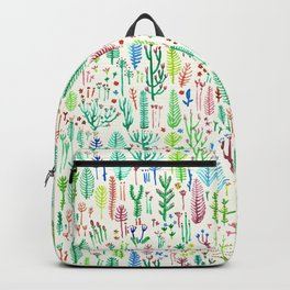 flowers at the white garden Backpack