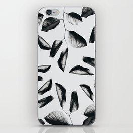 black leaves iPhone Skin
