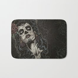 Day of The Dead Woman Bath Mat