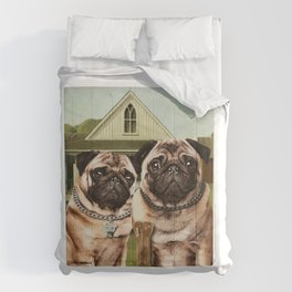 American Pug Gothic Comforters