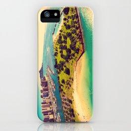Ala Moana Beach Park, Magic Island, and Diamond Head  iPhone Case
