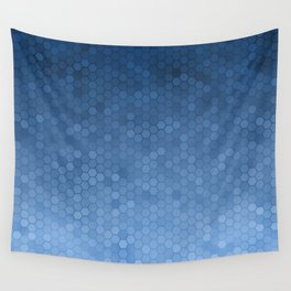 Blue Hexagons Wall Tapestry