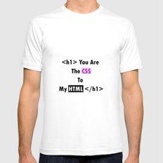 YOU ARE THE CSS TO MY HTML Mens Fitted Tee SMALL White