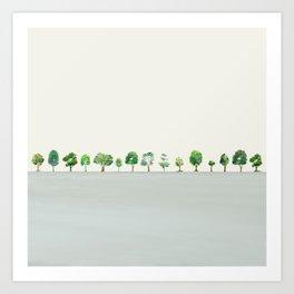 A Row Of Trees Art Print