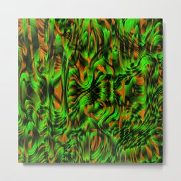 Metallic spray on marble dust with volcanic green tints. Metal Print