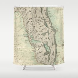 Vintage Map of Florida (1760) Shower Curtain