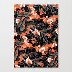 Mount Cook Lily - Orange/Black Canvas Print
